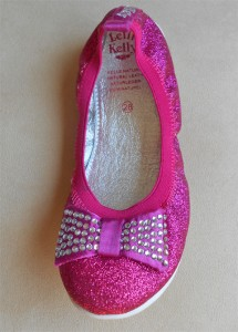 Lelli Kelly Sparkly Fuschia Patent Girls Ballerina Flats Shoes Spring 13