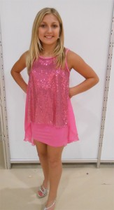Elisa B Sparkly Hi Lo Hem Dress