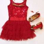 "Biscotti ""Deck the Halls"" Festive Red Drop Waist Holiday Dress"
